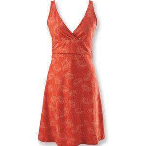 Patagonia Margot Orange Organic Cotton Dress sz S